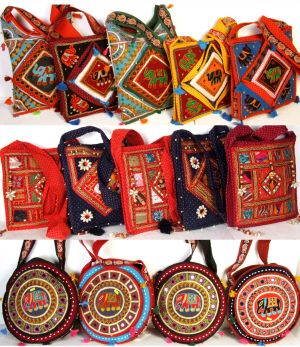Whole Lots Indian Ethnic Hand Embroidered Bags From Designer Based In Jaipur India